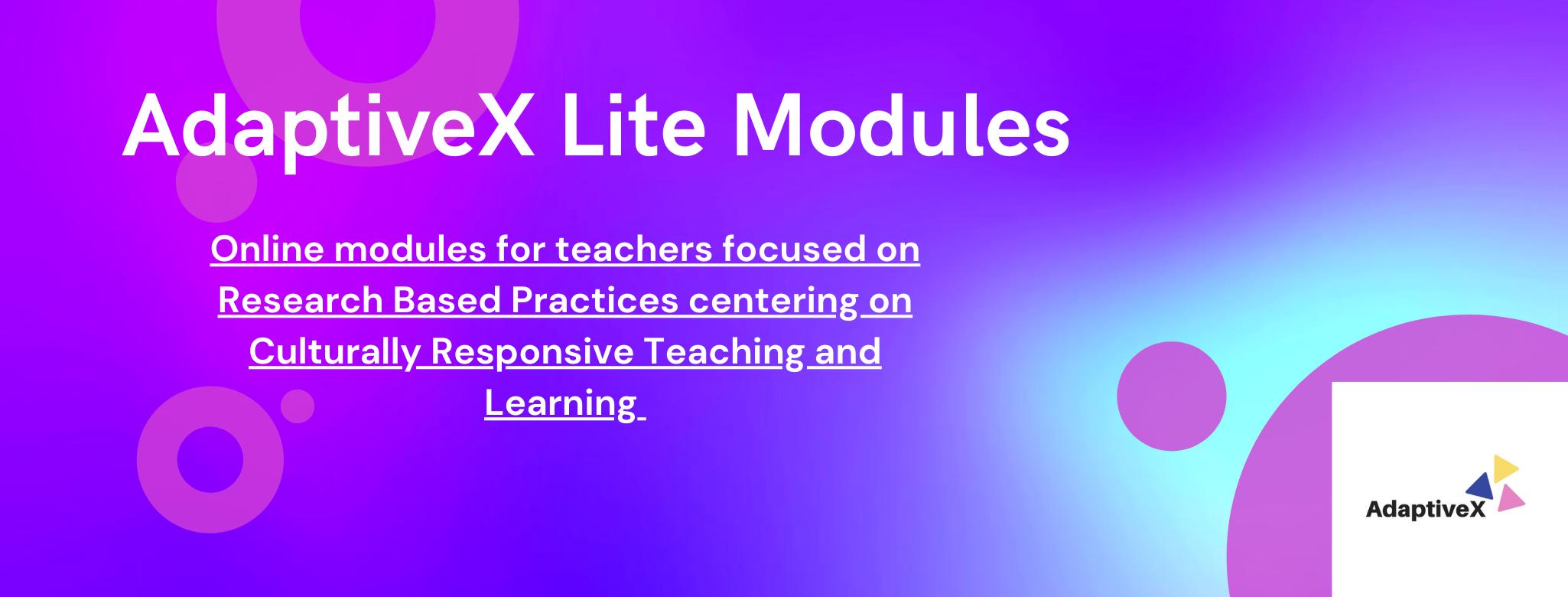 adaptivex lite module, adpativex lite modules